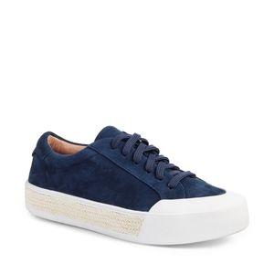 NIB Caslon Toran Platform Sneaker - Navy Suede 6.5